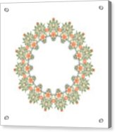 Mandala/photoart Orange Flowers-1 Acrylic Print