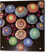 Mandala Stones Heart Acrylic Print