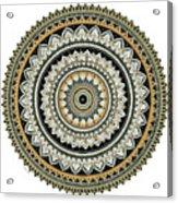 Black And Gold Mandala Acrylic Print