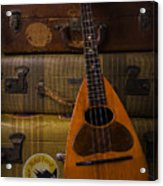 Mandolin And Suitcases Acrylic Print