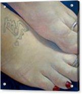 Mandys Toes Acrylic Print