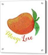 Mango Love Fruit Watercolor Mandala  Acrylic Print