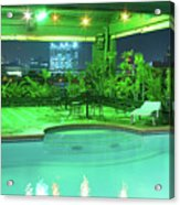 Mango Park Hotel Roof Top Pool Acrylic Print