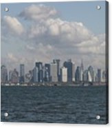 Manhattan And Governors Island Acrylic Print