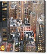 Manhattan At Dusk Acrylic Print