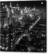 Manhattan At Night Acrylic Print