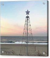 Manhattan Beach Christmas Star Acrylic Print