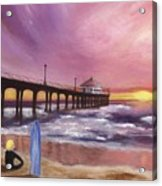 Manhattan Beach Pier Acrylic Print