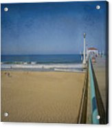 Manhattan Beach Pier Back Then Acrylic Print