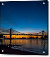 Manhattan Bridge At Dawn Acrylic Print