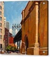 Manhattan Bridge From  Front Street, Brooklyn Acrylic Print