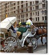 Manhattan Buggy Ride Acrylic Print