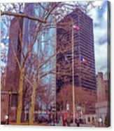 Manhattan Acrylic Print by Claudia M Photography