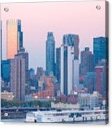 Manhattan Cruise Terminal And Skyline Acrylic Print