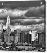 Manhattan Nyc Storm Clouds Cityview Acrylic Print