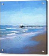 Manhattan Pier Blue Art Acrylic Print