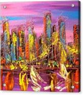 Manhattan Purple By Mark Kazav Acrylic Print