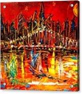 Manhattan Red Acrylic Print