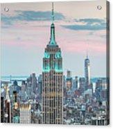 Manhattan Skyline Panoramic, New York City, Usa Acrylic Print