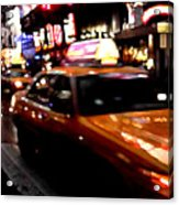Manhattan Taxis Acrylic Print by Jose Roldan Rendon
