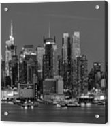 Manhattan Twilight Iv Acrylic Print by Clarence Holmes