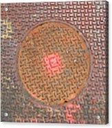 Manhole Mandala Acrylic Print