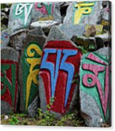 Mani Stones Acrylic Print