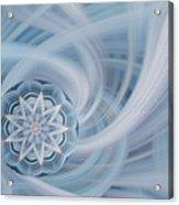 Manifest Beauty In Blue Acrylic Print