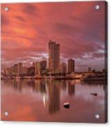 Manila At Sunset Acrylic Print