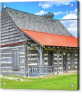Manistique Schoolcraft County Museum Log Cabin -2158 Acrylic Print