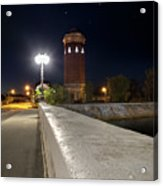 Manistique Water Tower Big Dipper -2293 Acrylic Print
