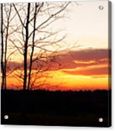 Manitoba Sunset Acrylic Print