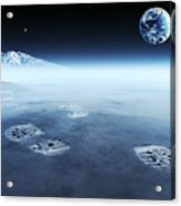 Mankind Exploring Space Acrylic Print