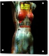 Mannequin Graffiti Acrylic Print
