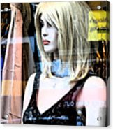 Mannequin Window 4 Acrylic Print