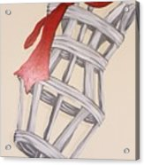Mannequin With Red Tie Acrylic Print