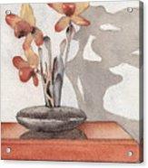 Mantel Flowers Acrylic Print