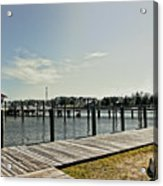 Manteo Waterfront Acrylic Print