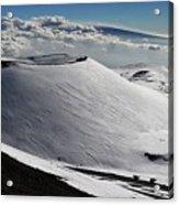 Mauna Kea Dressed In Snow Acrylic Print