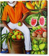 Manuel The Caribbean Fruit Vendor  Acrylic Print