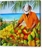 Manuel The Fruit Vendor At The Beach Acrylic Print