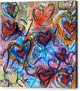 Many Hearts Acrylic Print