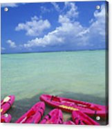 Many Pink Kayaks Acrylic Print
