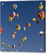 Many Vividly Colored Hot Air Balloons Acrylic Print