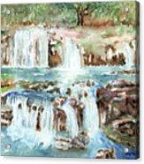 Many Waterfalls Acrylic Print
