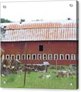 Many Windowed Barn  Washington State Acrylic Print