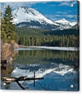 Manzanita Lake Reflects On Mount Lassen Acrylic Print