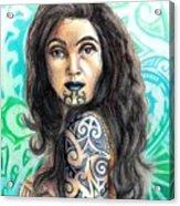 Maori Woman Acrylic Print