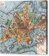 Map: Boston, C1880 Acrylic Print