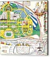 Map British Empire Exhibition Wembley Park London 1924 Acrylic Print